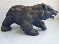 Large Detailed Vintage Bronze Grizzly Bear c1940s (3 of 10)