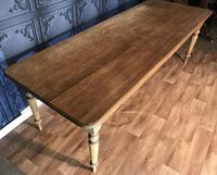 Large Victorian Pine Farmhouse Table (15 of 15)