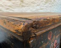 Large 19thc Swedish Country House Robust Painted Pine Storage Coffer Chest (16 of 18)