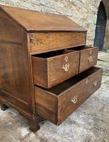 18th Century Georgian Oak Crossbanded Bureau (16 of 22)