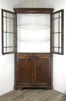 19th Century Antique Oak Glazed Corner Cupboard (9 of 10)