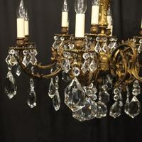 Italian Gilded 12 Light Antique Chandelier (2 of 10)
