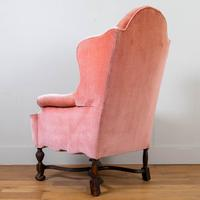 Attractive Large Early 20th Century Wingback Armchair (12 of 13)