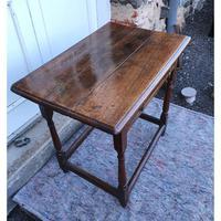 Queen Anne Walnut & Oak Side Table (4 of 6)
