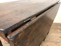 Antique Oak Drop Leaf Dining Table (7 of 13)