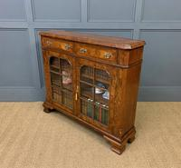 Burr Walnut Bookcase or Side Cabinet (18 of 18)
