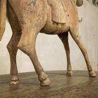 Large 19th Century Carved Indian Horse - Original Paint (3 of 14)