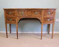 Antique Georgian Style Mahogany Shaped Front Sideboard (10 of 10)