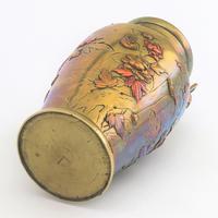 Japanese Meiji Period Large Bronze & Mixed Metal Vase c.1885 (10 of 11)