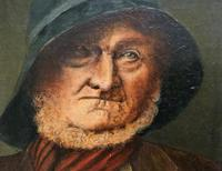 'The Old man' Original Antique 19th Century Victorian Oil Portrait Painting (6 of 11)