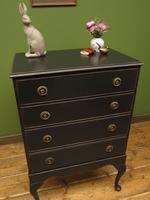 Antique Black Painted Chest of Drawers, Gothic shabby chic (3 of 15)