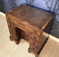 George III Style Burr Walnut Desk c.1920 (9 of 20)