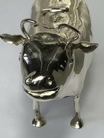 Victorian English Solid Sterling Silver Cow Creamer Maker William Moering (3 of 12)