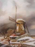 Oil on Board Dutch Landscape Artist Thomassini (9 of 10)