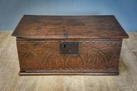 17th Century Carved Oak Bible Box (4 of 4)