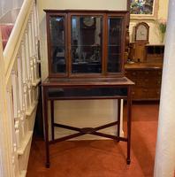 Late Victorian / Edwardian Mahogany Glazed Display Cabinet (2 of 4)