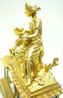 Antique 8 Day Ormolu Mantel Clock Sevres Mother & Child French Mantle Clock (14 of 16)
