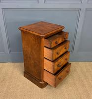 Pair of Burr Walnut Bedside Chest by Heal and Son (13 of 16)