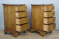 Antique Pair of Burr Walnut Bedside Chests of Drawers (8 of 8)