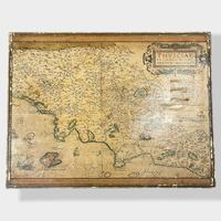 Italian Painted Nest of Tables with Map Prints (10 of 10)