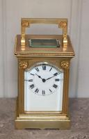 French Gilt Brass Carriage Clock (2 of 12)