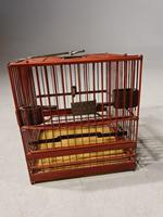 Most Unusual 1920's Hardwood & Lacquered Bird Cage (3 of 9)