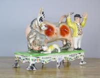 Rare Bull Baiting Staffordshire Figure Obadiah Sherratt (2 of 11)