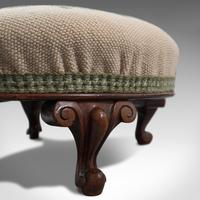 Small Antique Footstool, English, Walnut, Needlepoint Tapestry, Early Victorian (12 of 12)