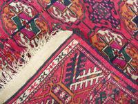 Rare Antique Tekke Turkman Carpet Runner (5 of 6)