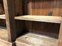 Oak Breakfront Open Bookcase (10 of 20)