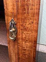Antique Inlaid Walnut Display Cabinet (7 of 10)