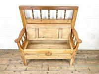 Vintage Pine Settle Bench with Storagev (7 of 10)