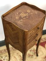French Marquetry Kingwood Bedside Tables Rustic Distressed (7 of 13)