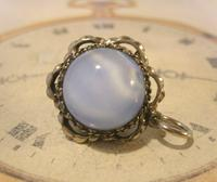 Vintage Pocket Watch Chain Fob 1950s Big Silver Nickel Victorian Revival Fob (8 of 8)