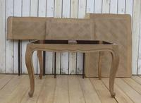 Bleached Oak Extending Draw Leaf Dining Table Desk (8 of 10)