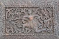 Pair of Early 20th Century Carved Wooden Asian Panels (5 of 10)