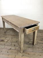 Antique Pitch Pine Table with Drawers (9 of 10)