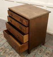 Distressed Georgian Flame Mahogany Chest of Drawers (5 of 5)
