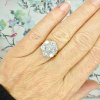 Impressive Vintage 18ct gold diamond cluster engagement ring 1.40 carat ~ With Independent Valuation (2 of 9)