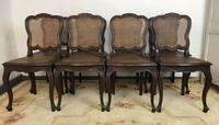 Antique French Set Of 8 Bergère Cane Dining Chairs (5 of 12)