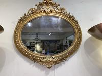 Large Gilt Oval Mirror (2 of 8)