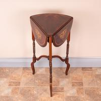 Edwardian Inlaid Rosewood Drop Leaf Occasional Table (3 of 23)