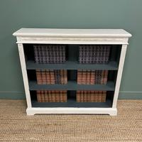 Antique Victorian Painted Open Bookcase (6 of 6)
