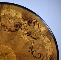 Victorian Walnut Marquetry Inlaid Circular Table (2 of 15)