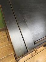 Antique Painted Black Clerks Desk (5 of 17)