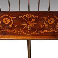 19thc. Inlaid Mahogany Music Stand (3 of 7)