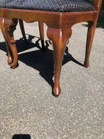 Pair of Antique Queen Anne Style Walnut Side Chairs c.1910 (7 of 7)