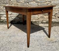 Small Antique French Elm Farmhouse Table (5 of 22)