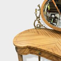 French Bleached Kidney Shaper Dressing Table (6 of 6)