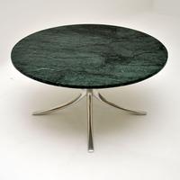 1960's Vintage Marble & Steel Coffee Table (2 of 6)